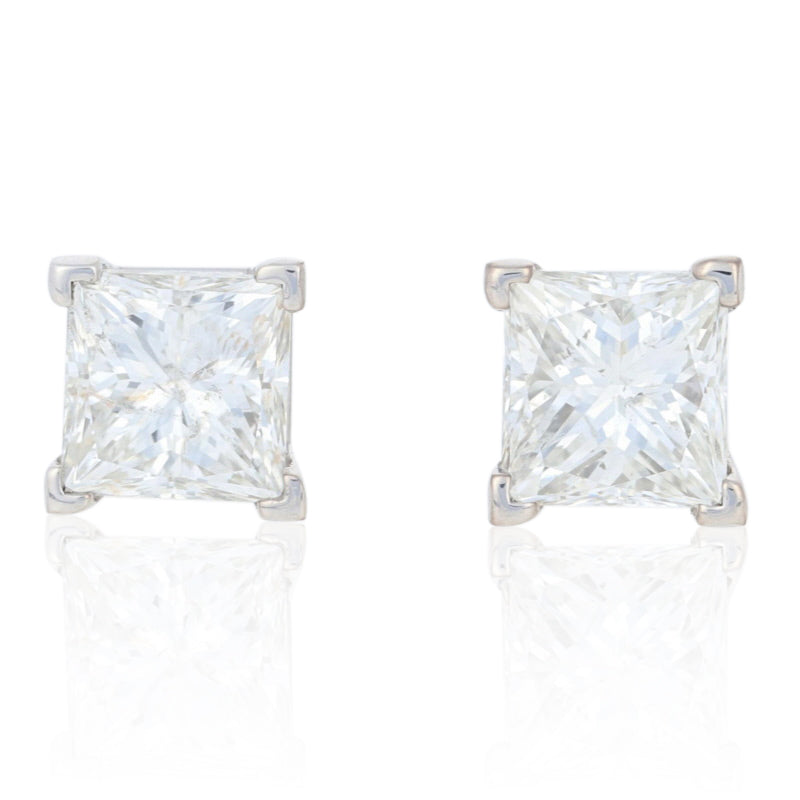 Princess Cut Diamond Earrings 2.00ctw