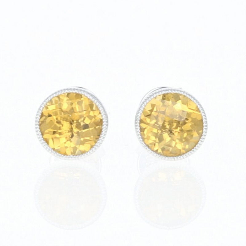 Citrine Stud Earrings 1.58ctw