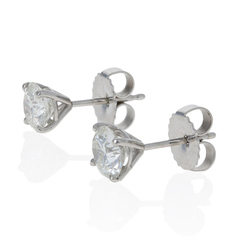 1.53ctw Diamond Earrings White Gold