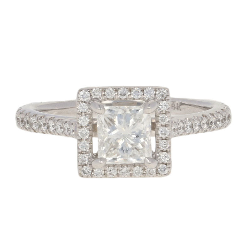 .91ct Princess Halo Diamond Engagement Ring