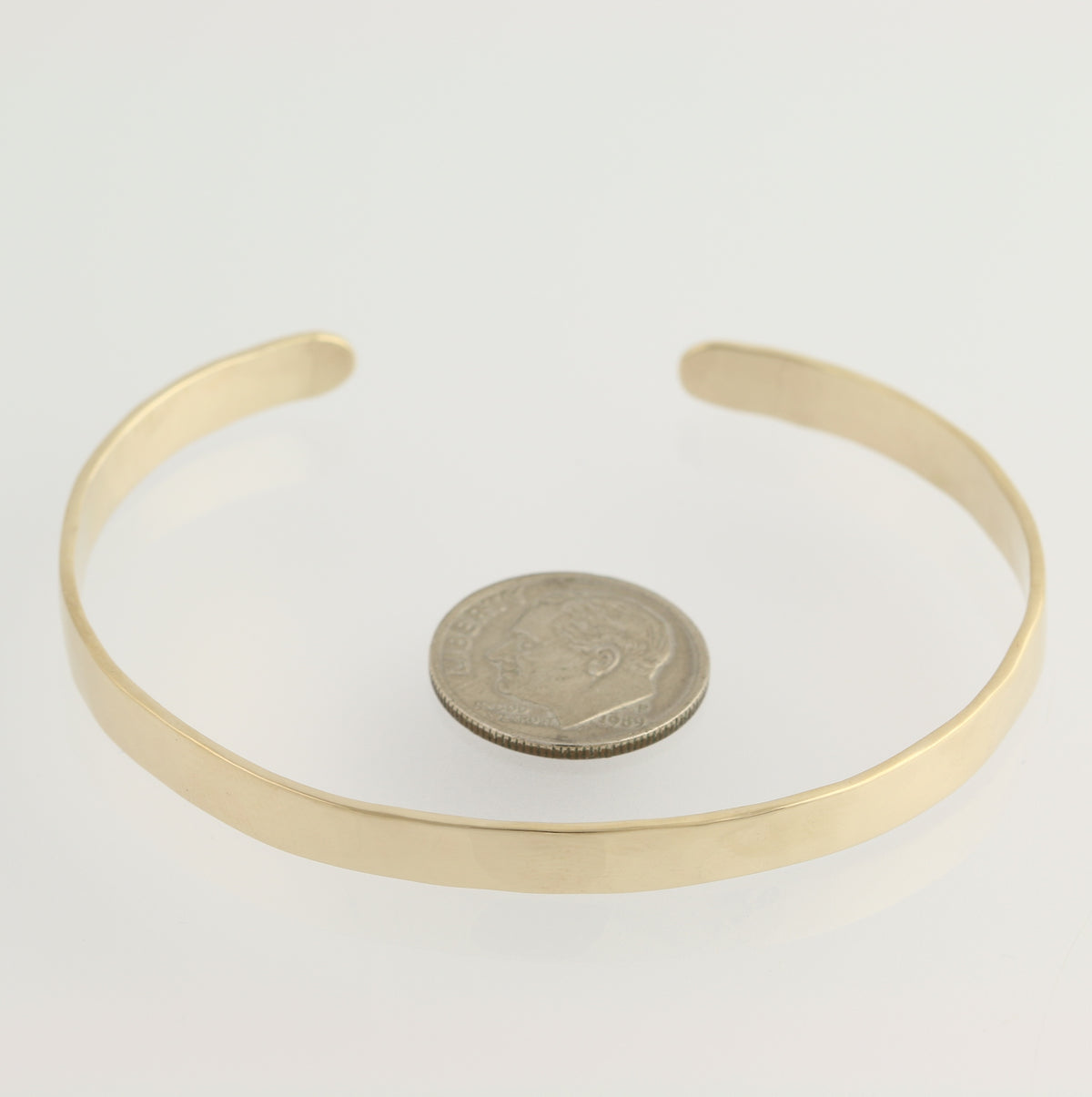 Handcrafted Hammered Gold Cuff Bracelet