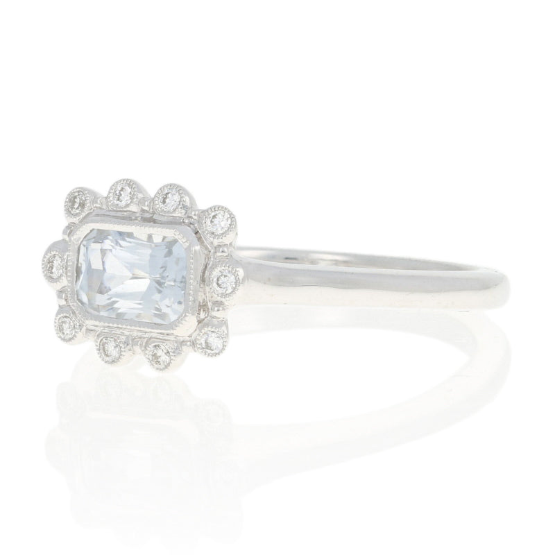 .72ct White Sapphire & Diamond Ring White Gold