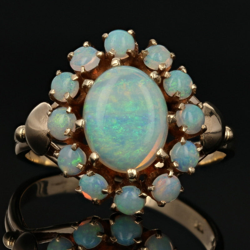 2.00ctw Opal Vintage Ring Yellow Gold