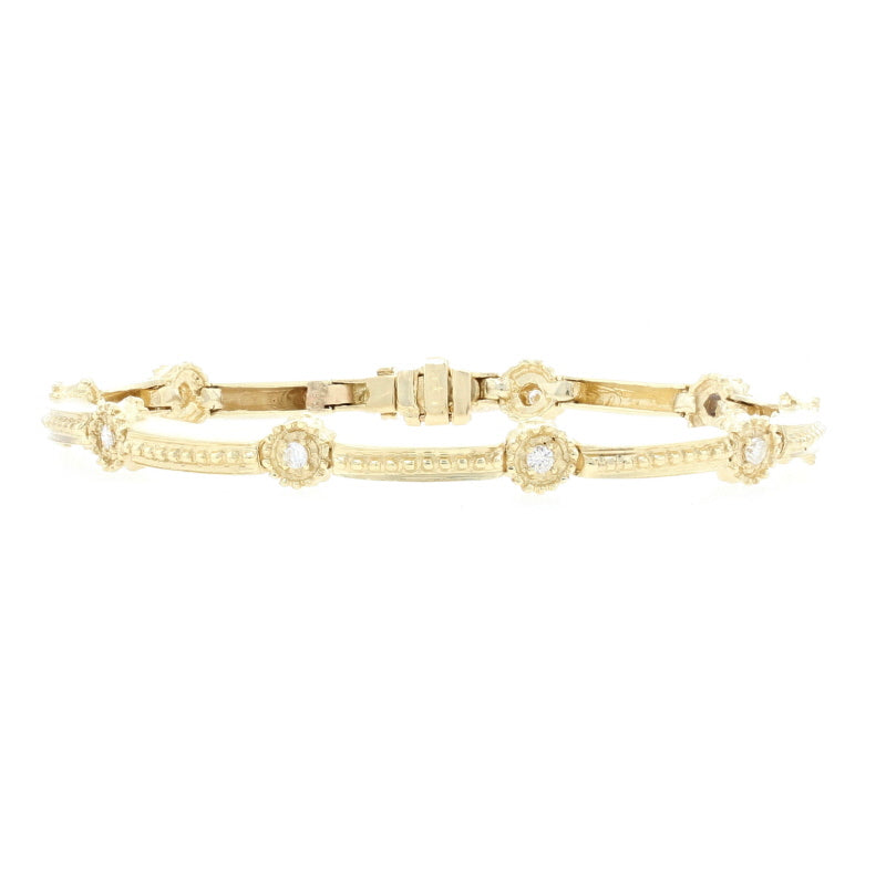.45ctw Diamond Bracelet Yellow Gold