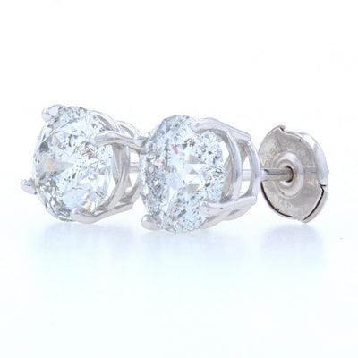 3.41ctw Diamond Earrings White Gold