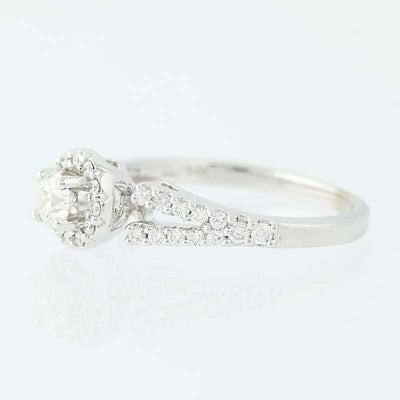 Diamond Halo Engagement Ring .65ctw