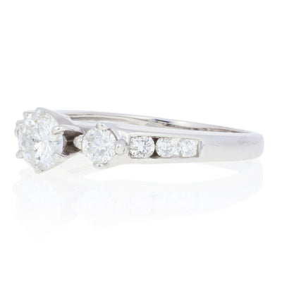 .81ctw Diamond Engagement Ring White Gold