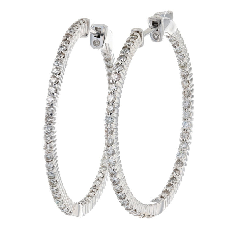 1.50ctw Diamond Earrings White Gold