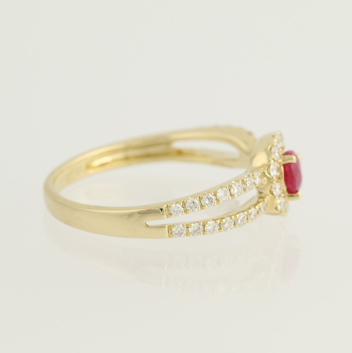 Ruby & Diamond Ring  .71ctw