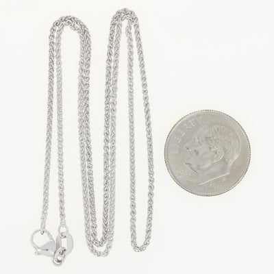 Wheat Chain Necklace Platinum