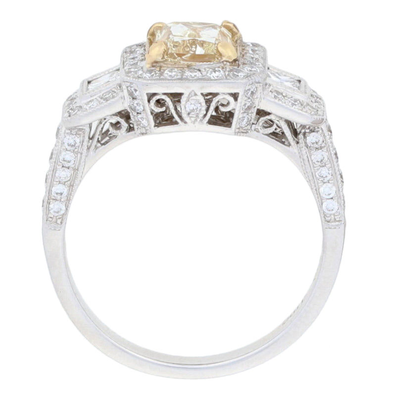 Fancy Yellow Diamond Ring 2.00ctw
