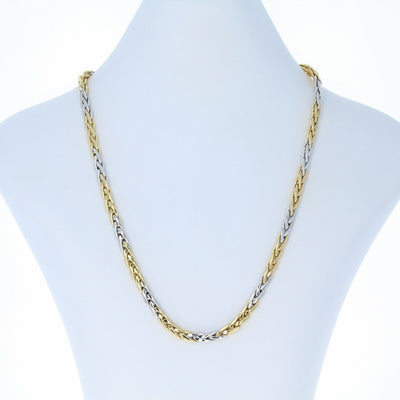 Roberto Coin Two Tone Wheat Chain Necklace