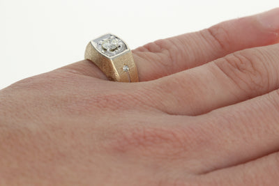 .58ctw Diamond Men's Ring Yellow Gold