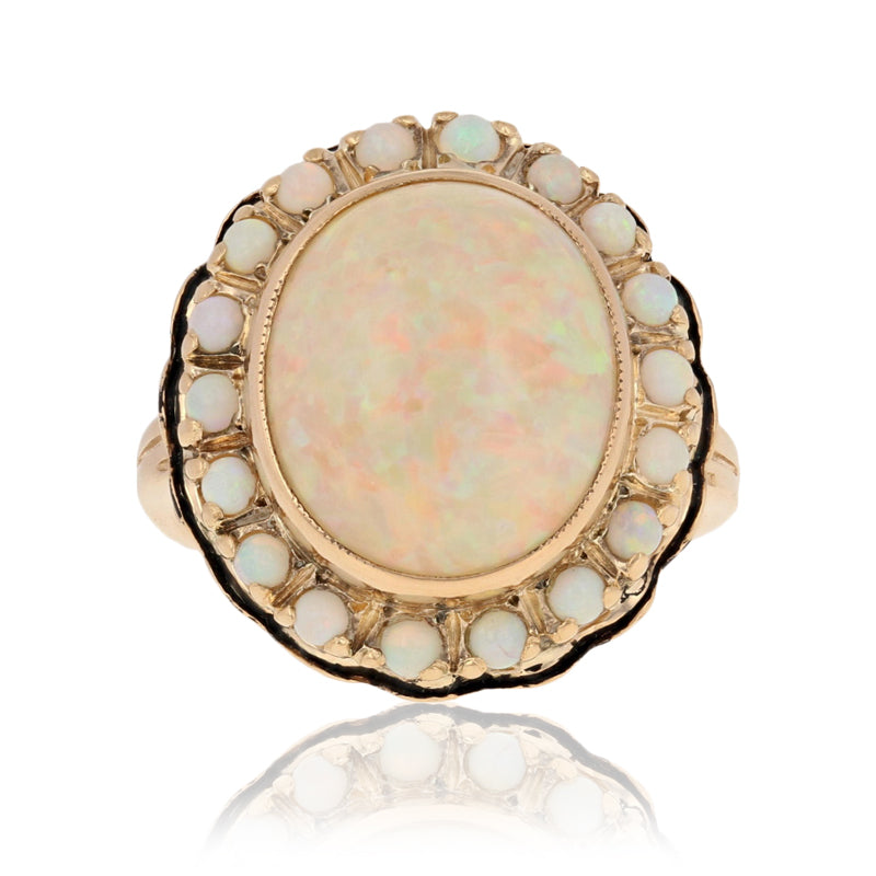 Vintage Opal Ring 6.29ctw