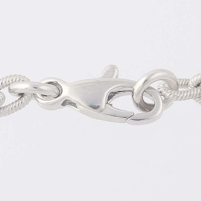 White Gold Cable Chain Bracelet