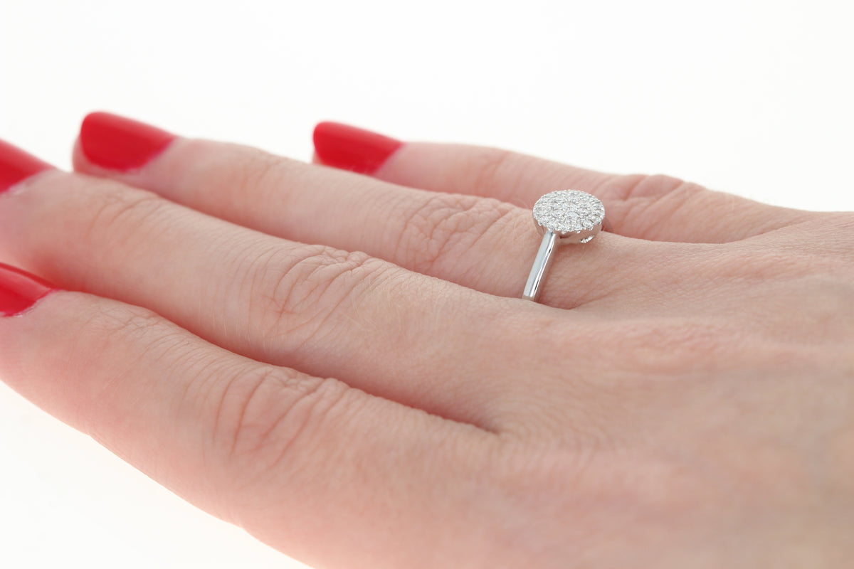 Diamond Illusion Solitaire Ring .17ctw