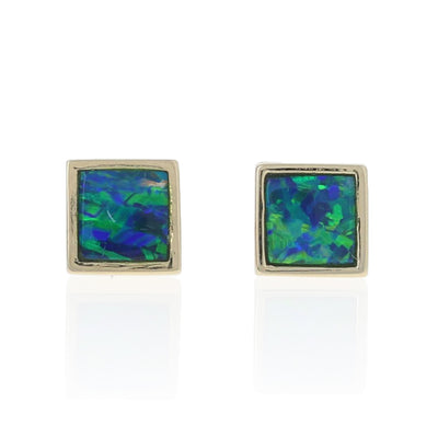 Black Opal Doublet Earrings