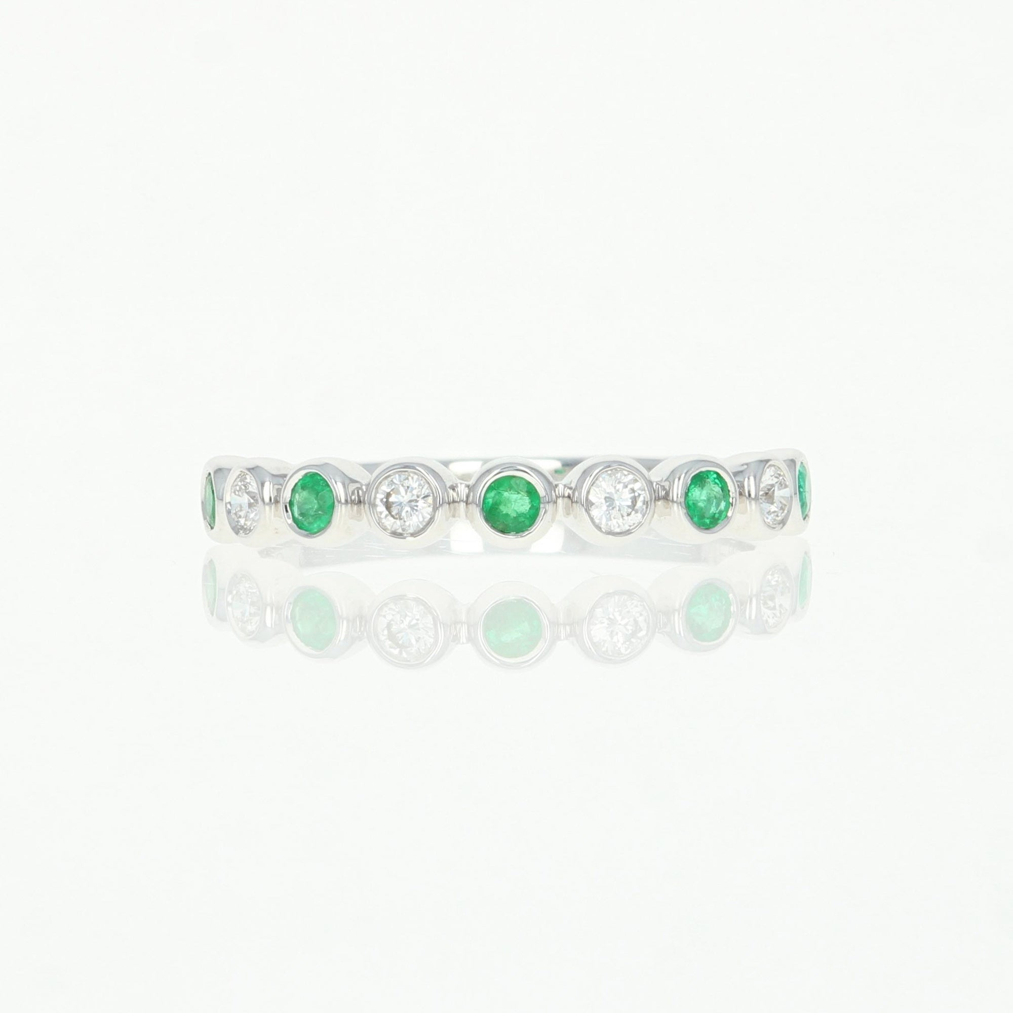 .38ctw Emerald & Diamond Ring White Gold