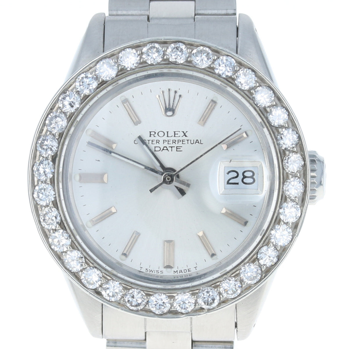 Rolex Oyster Perpetual Date Ladies Wristwatch Stainless Automatic 1 Yr Wnty 6917