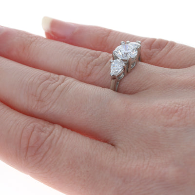 2.43ctw Diamond Ring Platinum