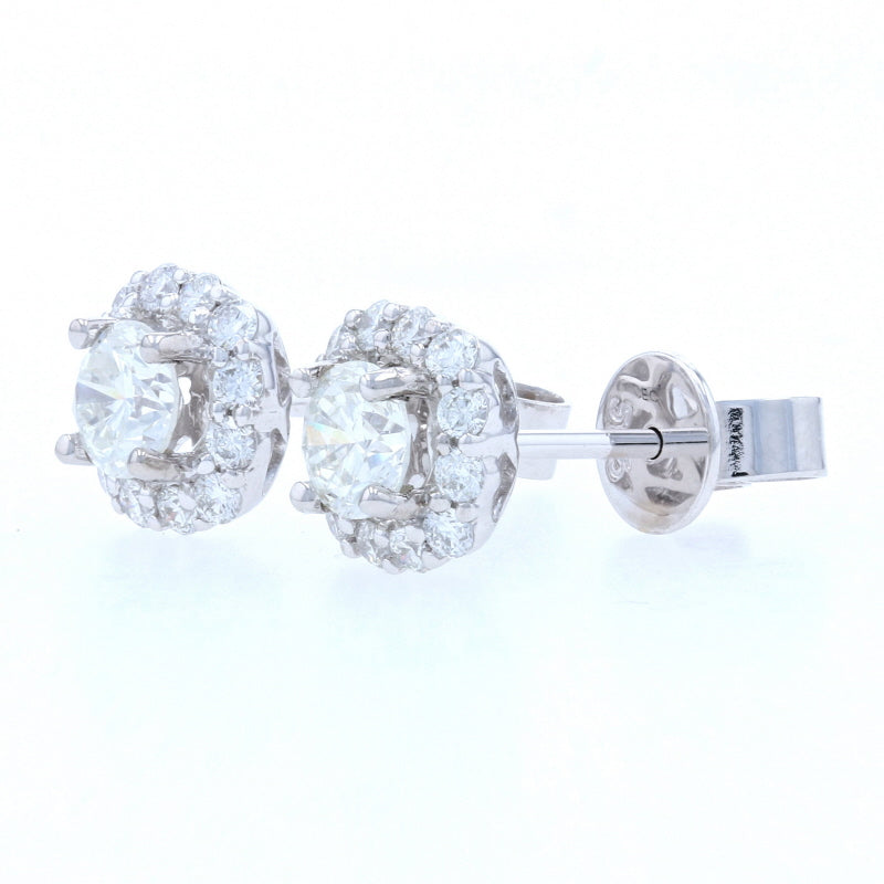 .95ctw Diamond Earrings White Gold