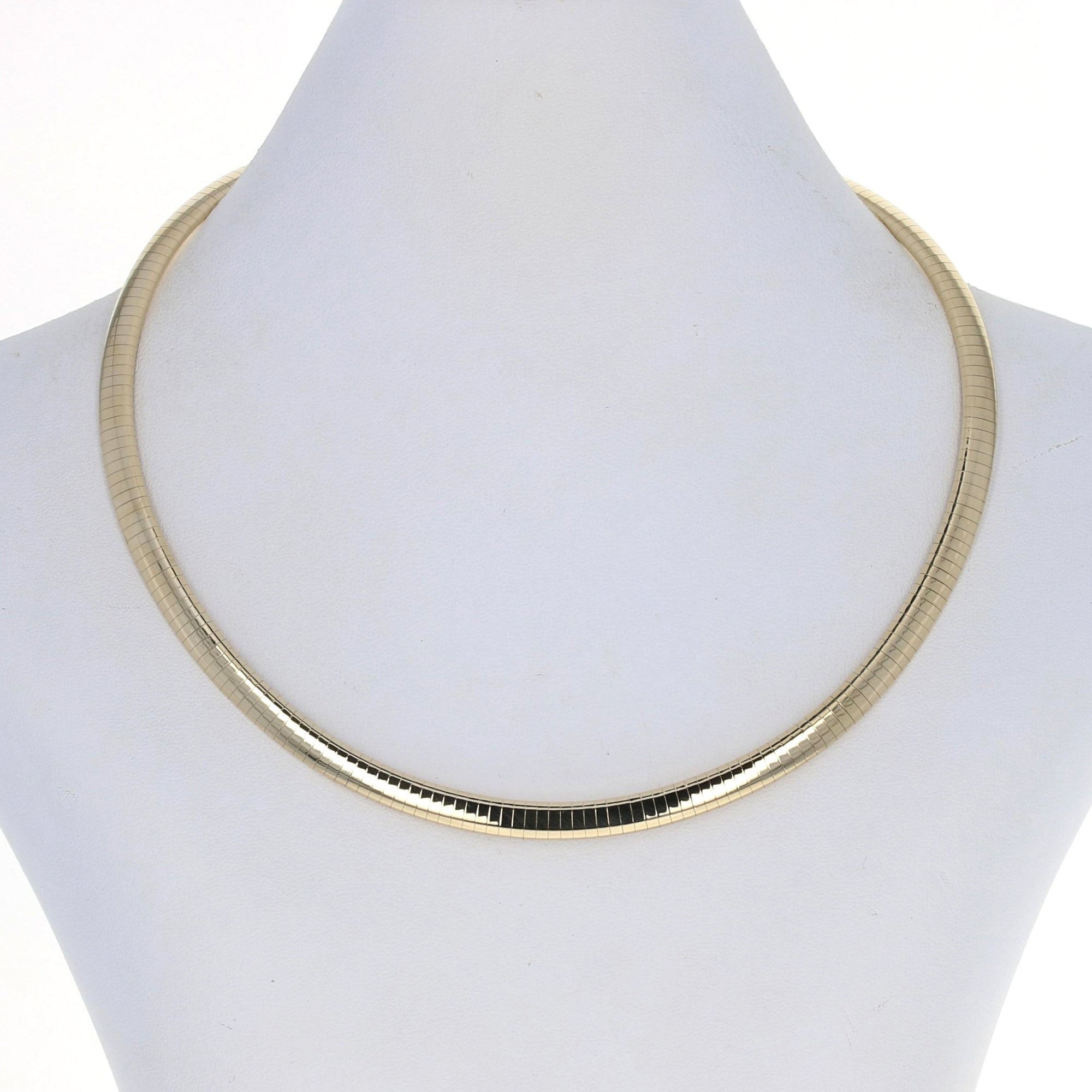 Omega Chain Necklace Yellow Gold