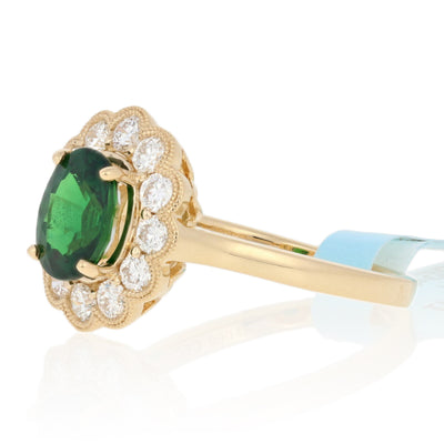 1.49ct Tsavorite Garnet & Diamond Ring