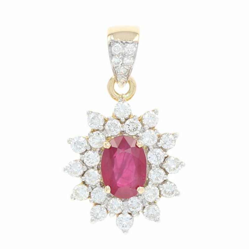 Ruby & Diamond Halo Pendant 2.58ctw