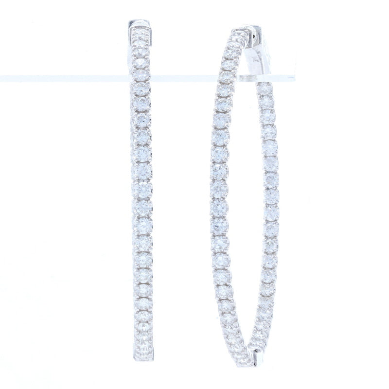 2.50ctw Diamond Earrings White Gold