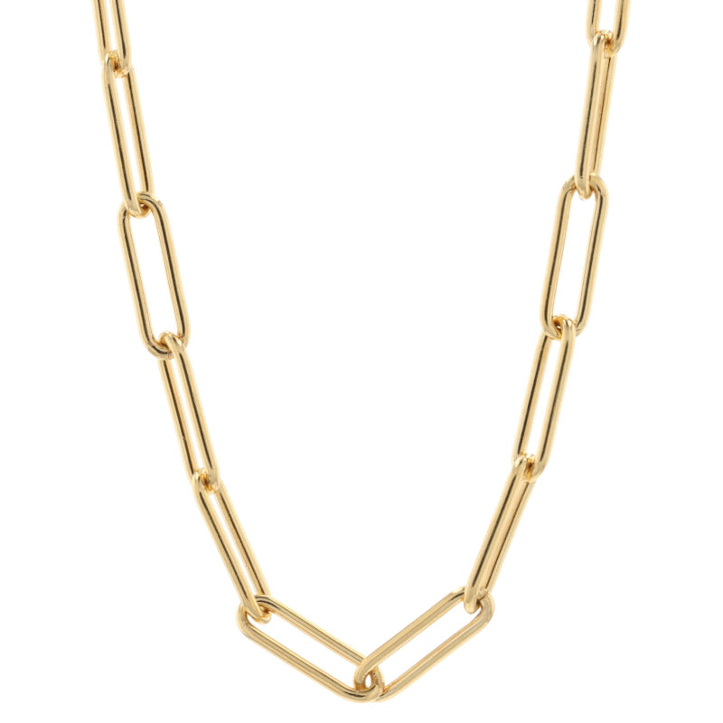 Paperclip Chain Necklace Gold Filled