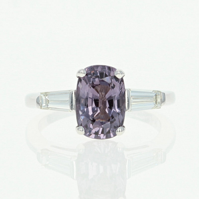 Spinel &  Diamond Engagement Ring 3.17ctw