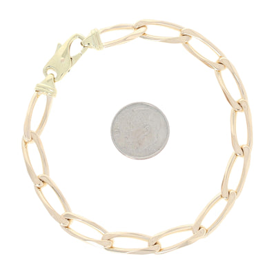 Oval Curb Chain Bracelet