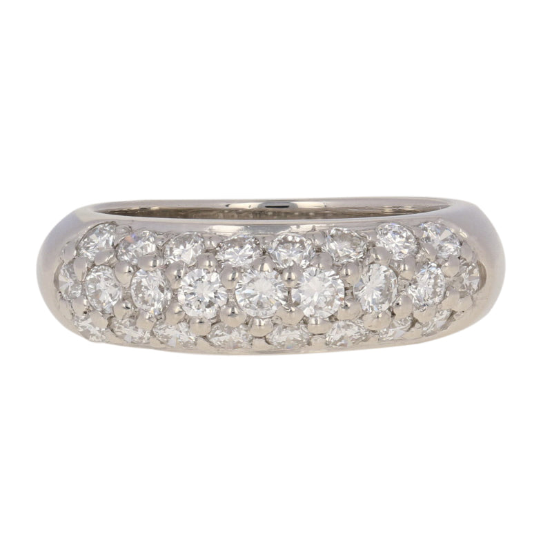 1.25ctw Platinum Diamond Band Ring