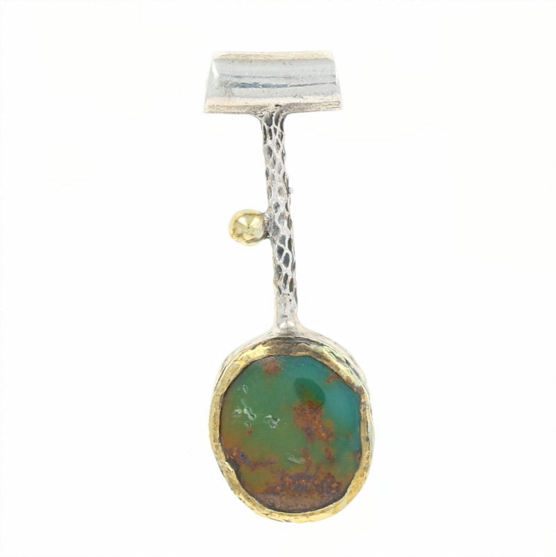 Bora Turquoise Sterling Silver Drop Pendant