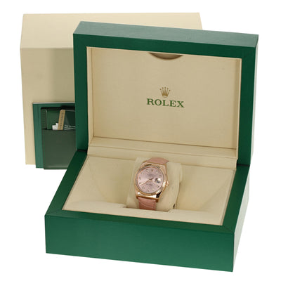 Rolex 116135 Oyster Datejust Factory Dial/Strap 18k Rose Gold