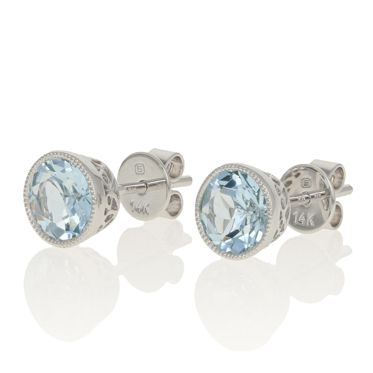 1.35ctw Aquamarine Earrings