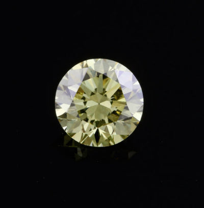 .35ct VS2 Fancy Intense Yellow Round Brilliant Cut Diamond GIA HPHT Loose