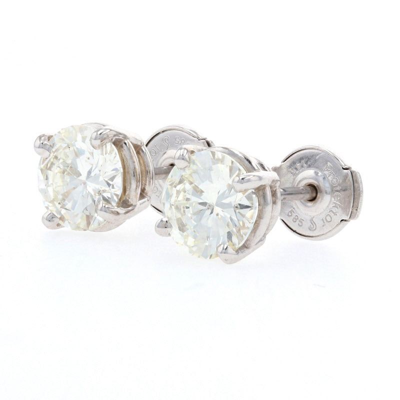 2.02ctw Diamond Earrings White Gold