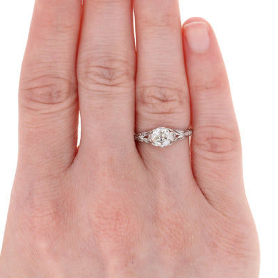 .96ct Diamond Art Deco Engagement Ring