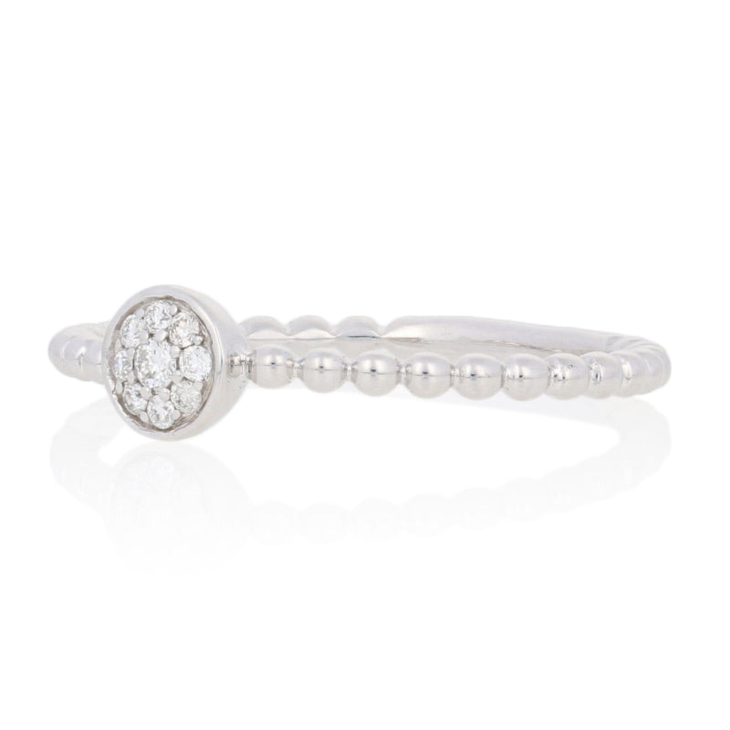 Round Brilliant Cut Diamond-Accented Ring