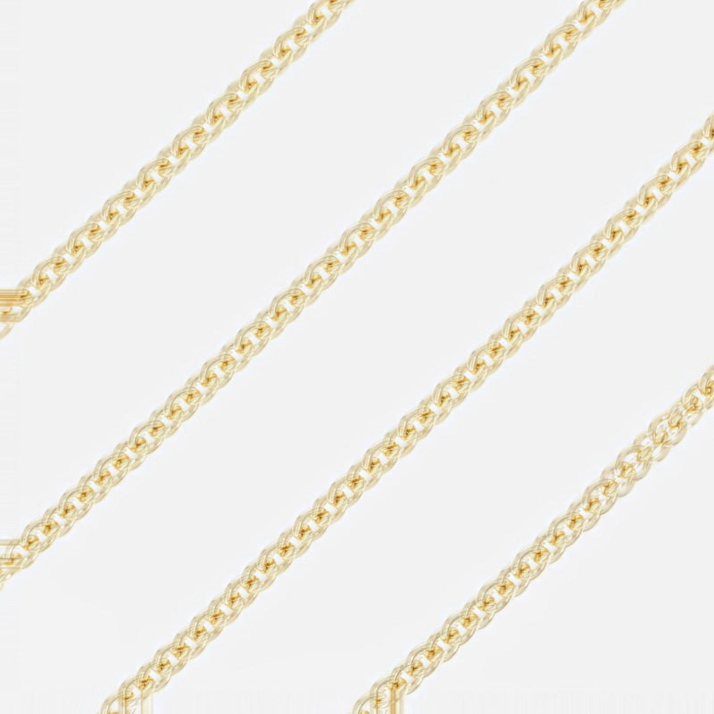 Cable Chain Necklace Yellow Gold