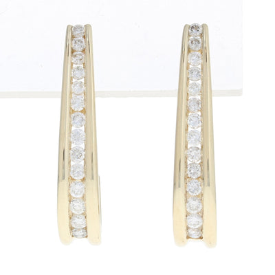 1.00ctw Diamond Earrings Yellow Gold