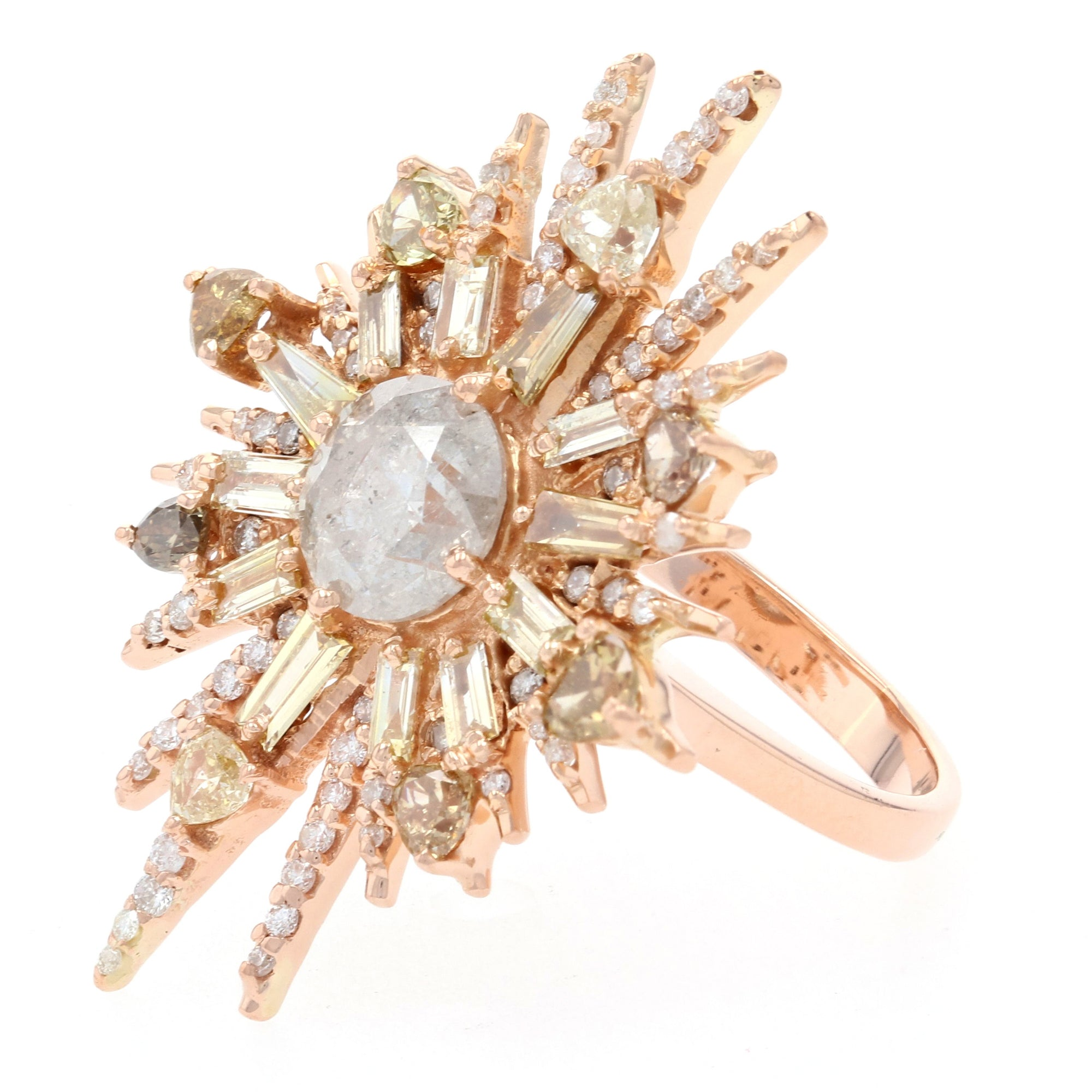 1.05ct Diamond Ring Rose Gold