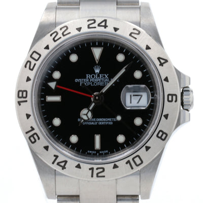 Rolex Explorer II Men's Wristwatch 16570 T Stainless Automatic 1 Year Warranty