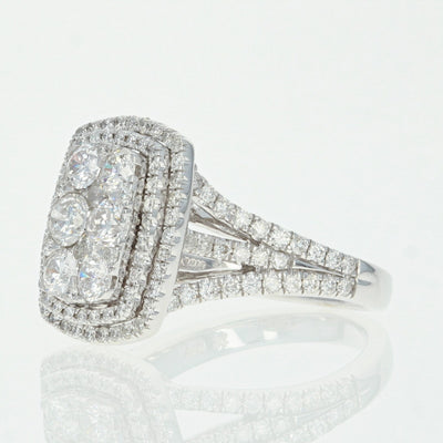 Composite Diamond Halo Ring  2.25ctw