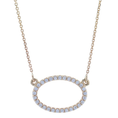 .13ctw Diamond Necklace Yellow Gold