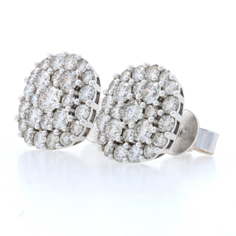 2.00ctw Diamond Earrings White Gold