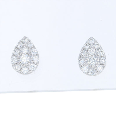 Diamond Cluster Teardrop Earrings
