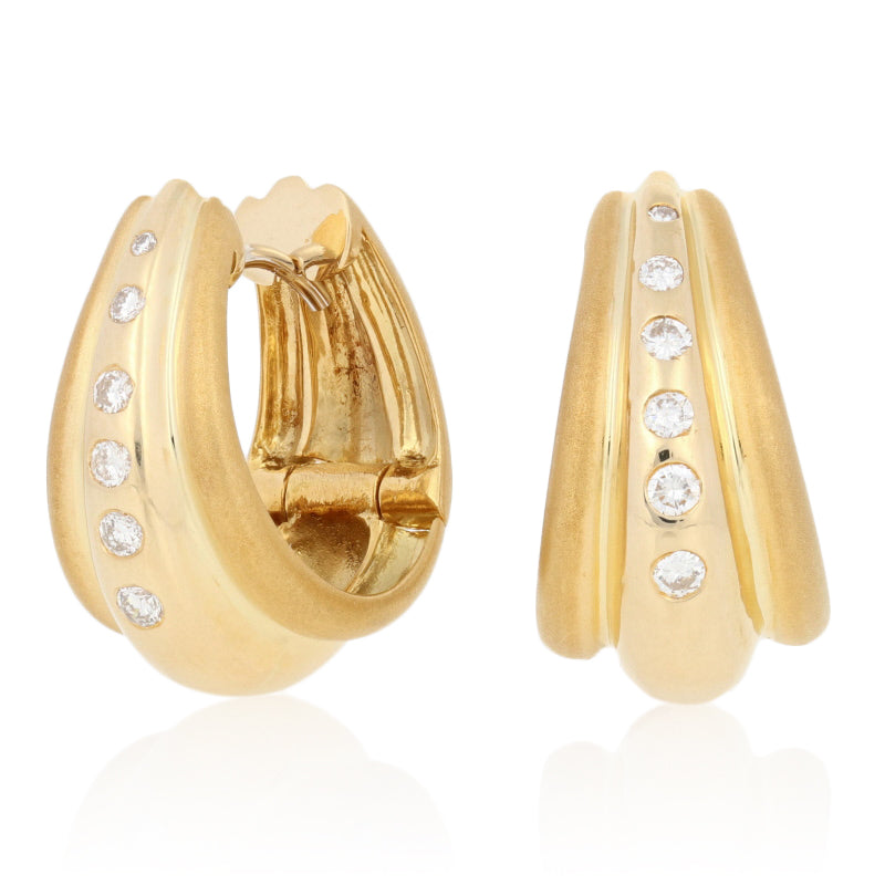 .25ctw Diamond Earrings Yellow Gold