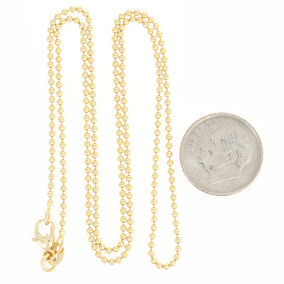 Bead Chain Necklace 18""